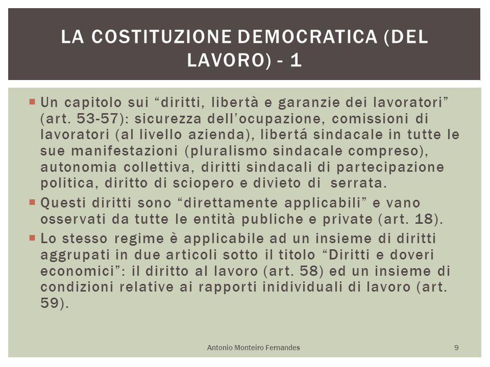 La Costituzione democratica (del lavoro) - 1