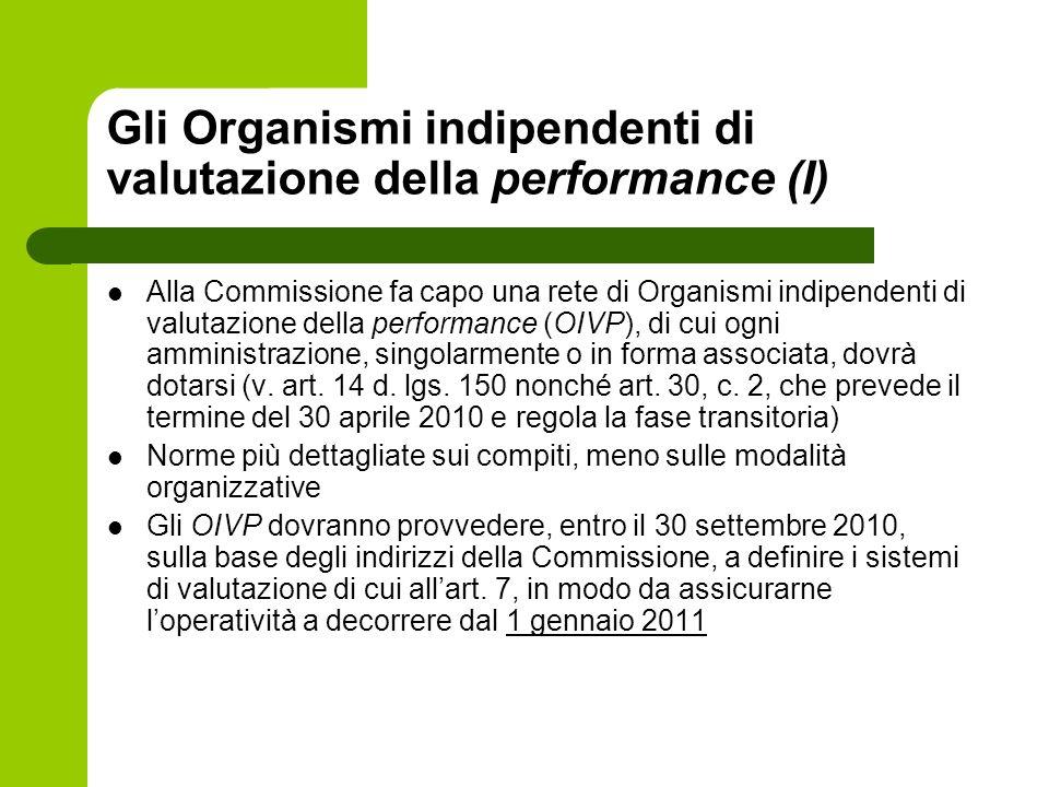 Gli Organismi indipendenti di valutazione della performance (I)