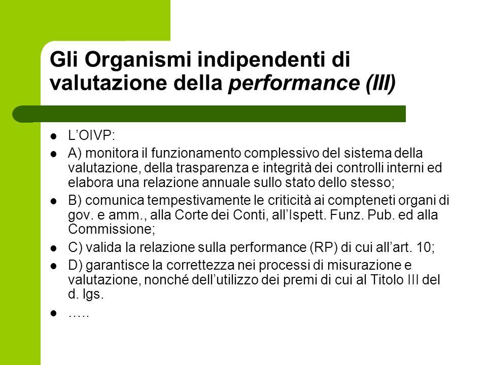 Gli Organismi indipendenti di valutazione della performance (III)