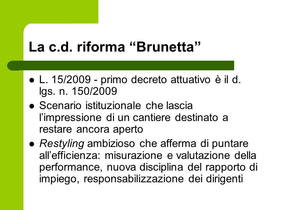 La c.d. riforma Brunetta