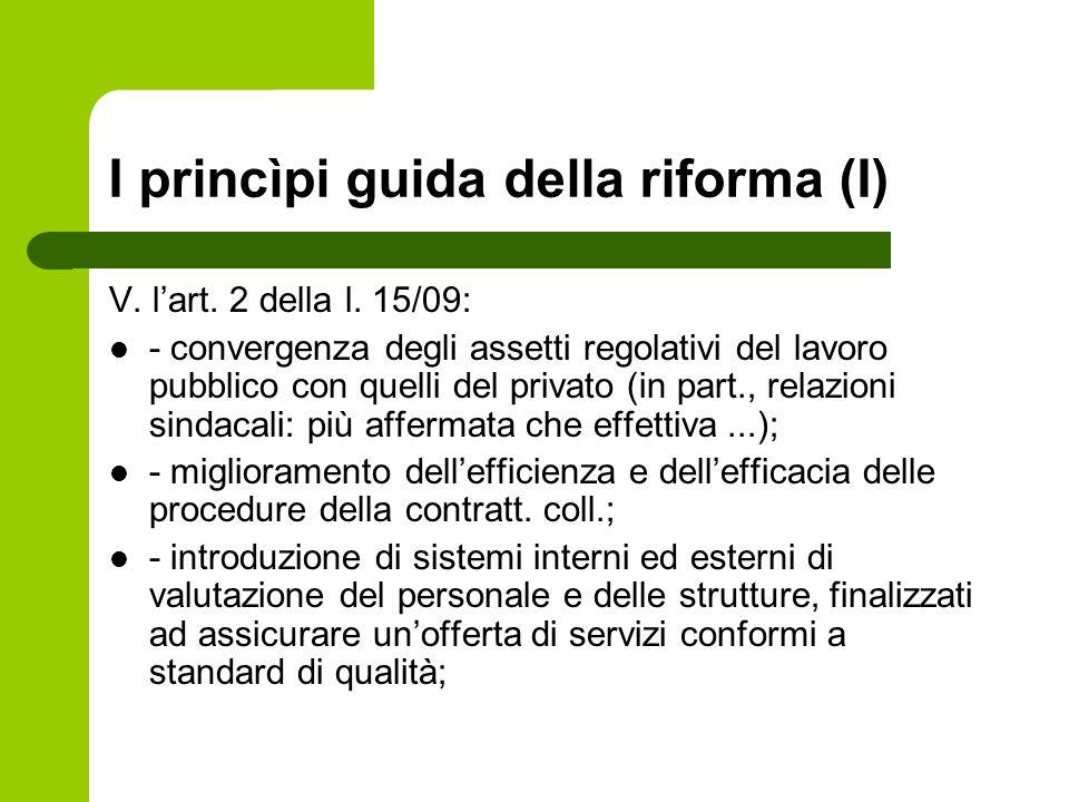I princìpi guida della riforma (I)