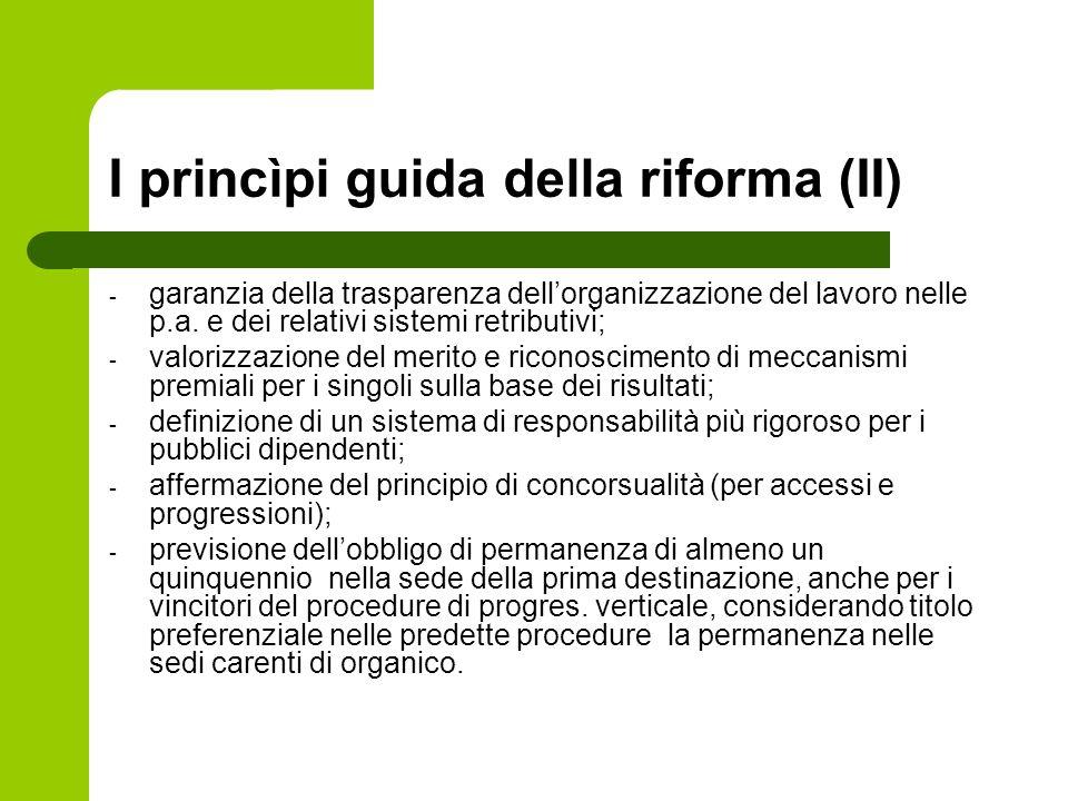 I princìpi guida della riforma (II)
