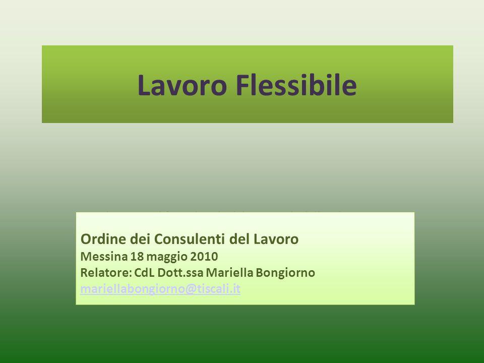 Lavoro Flessibile Ordine dei Consulenti del Lavoro