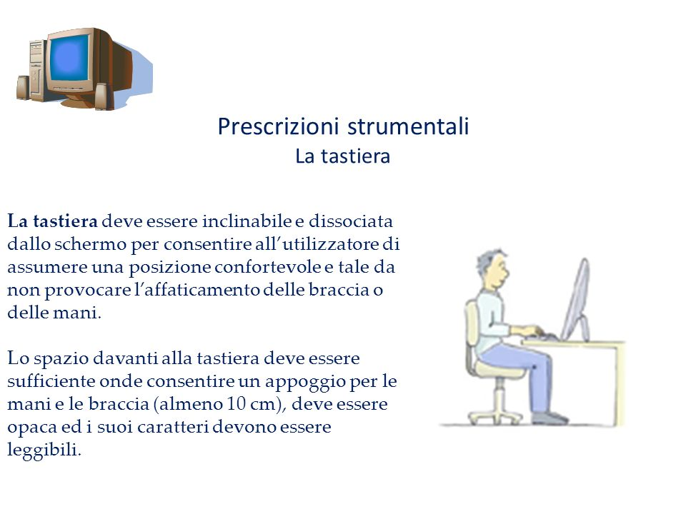 Prescrizioni strumentali