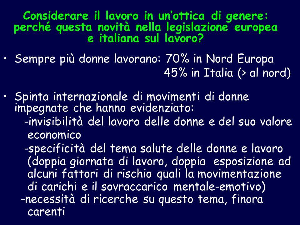 Considerare il lavoro in un'ottica di genere: perché questa novità nella legislazione europea e italiana sul lavoro