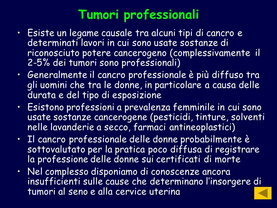 Tumori professionali