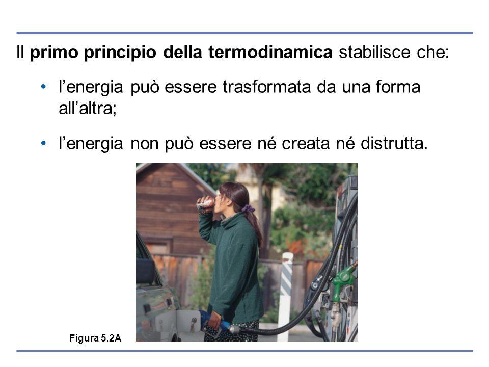 Il primo principio della termodinamica stabilisce che: