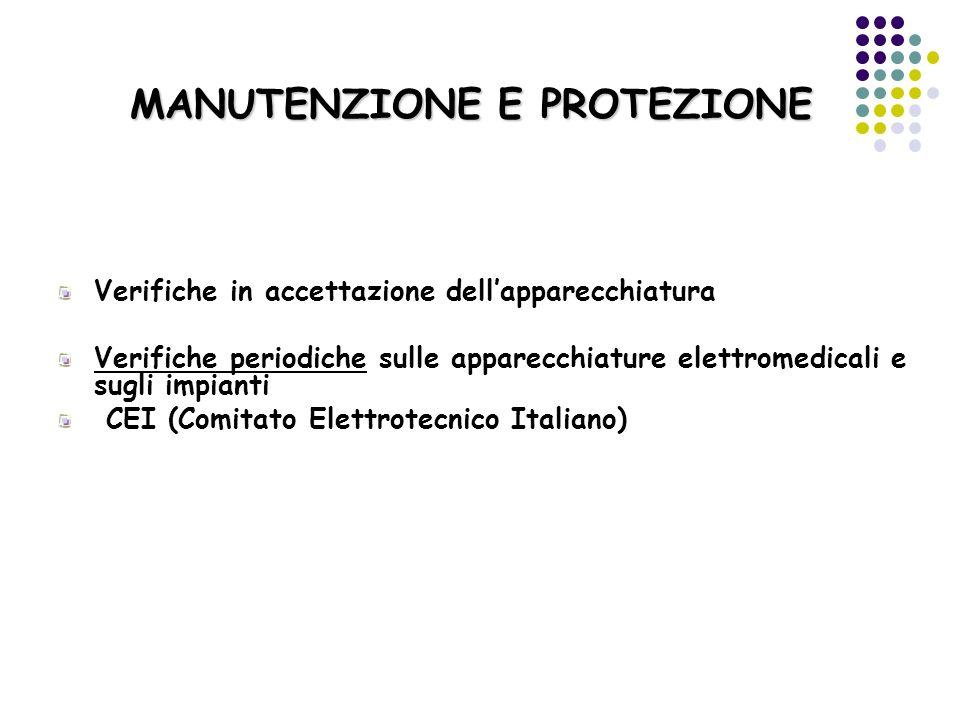 MANUTENZIONE E PROTEZIONE