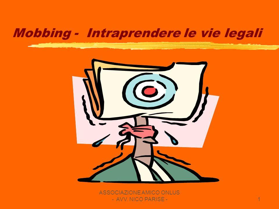 Mobbing - Intraprendere le vie legali