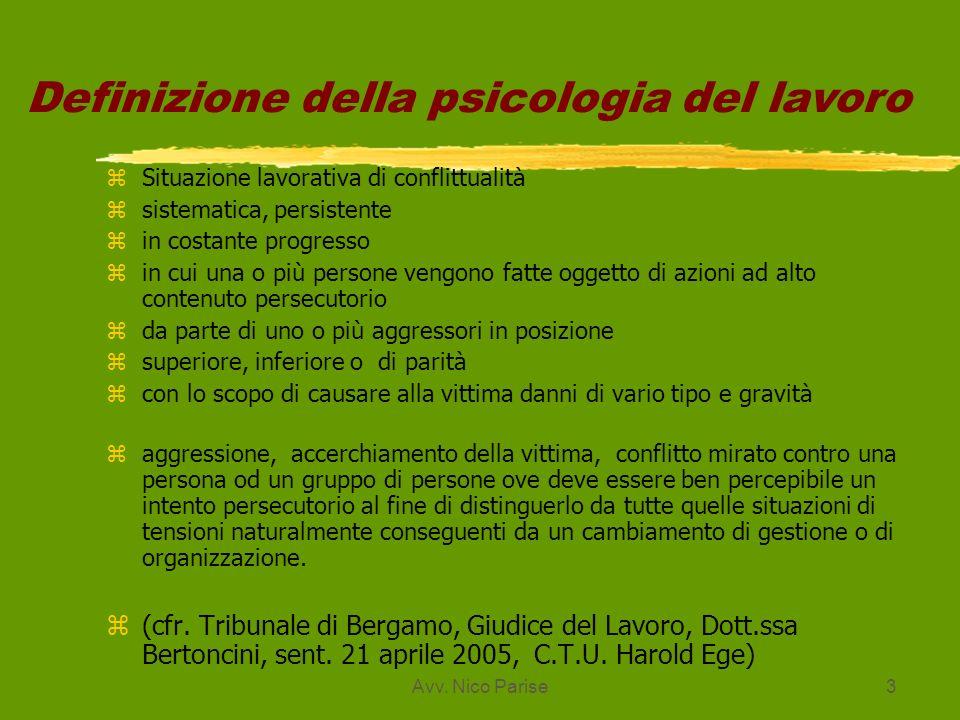 Definizione della psicologia del lavoro