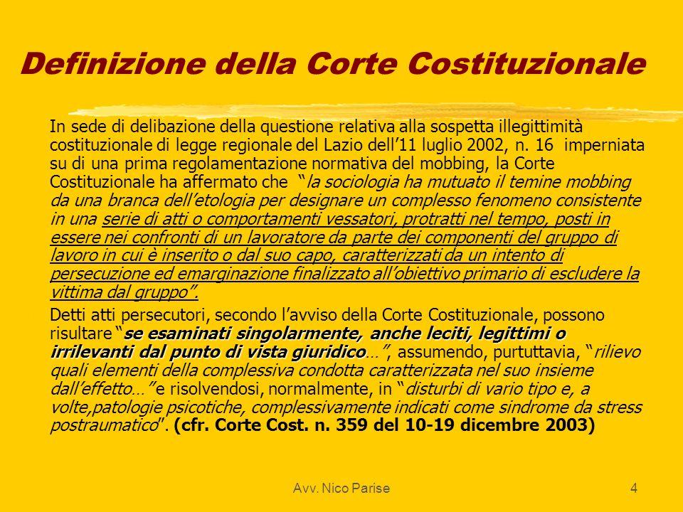 Definizione della Corte Costituzionale