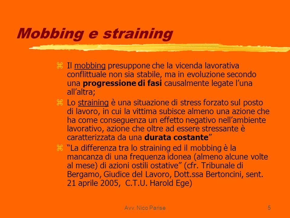 Mobbing e straining