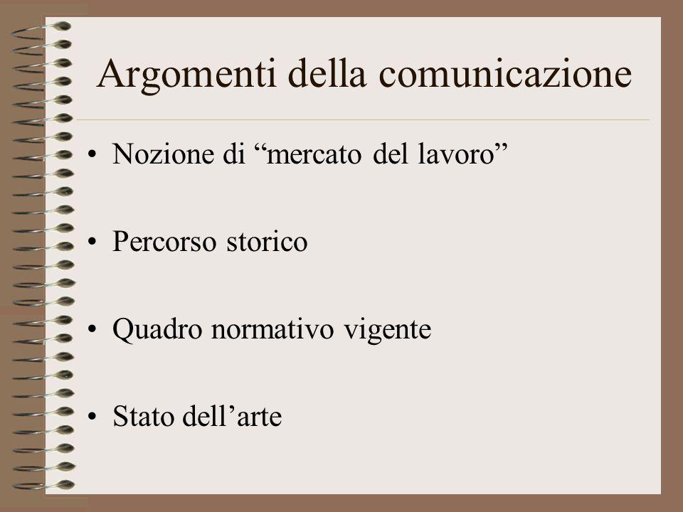 Argomenti della comunicazione