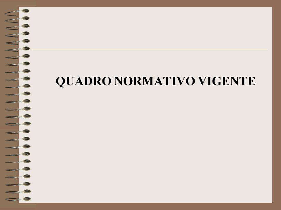 QUADRO NORMATIVO VIGENTE