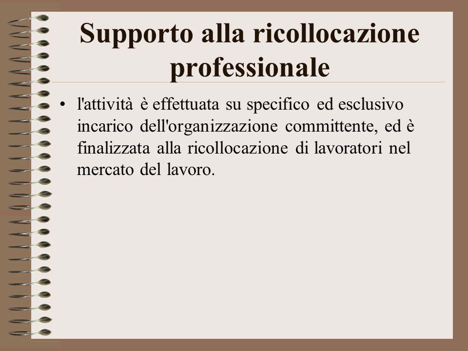 Supporto alla ricollocazione professionale