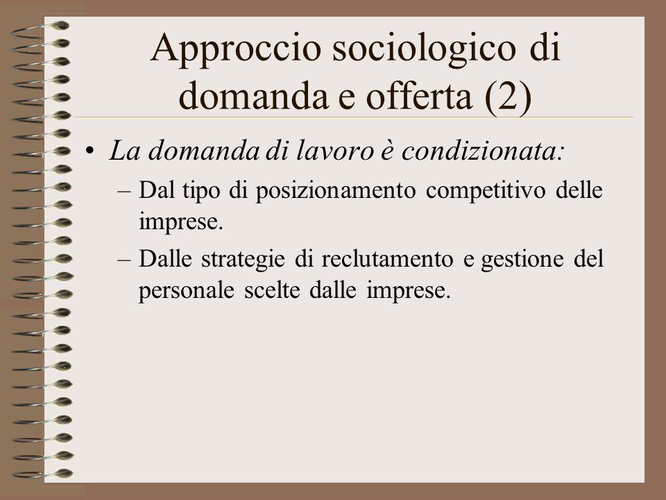 Approccio sociologico di domanda e offerta (2)