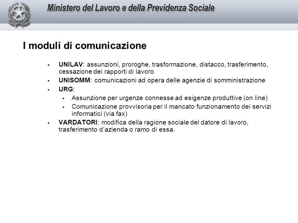 I moduli di comunicazione
