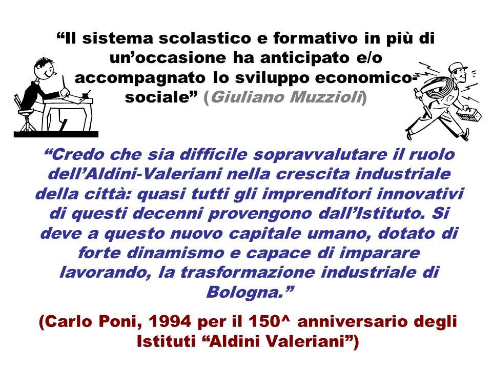Il sistema scolastico e formativo in più di un'occasione ha anticipato e/o accompagnato lo sviluppo economico-sociale (Giuliano Muzzioli)