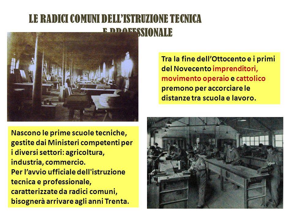 LE RADICI COMUNI DELL'ISTRUZIONE TECNICA E PROFESSIONALE