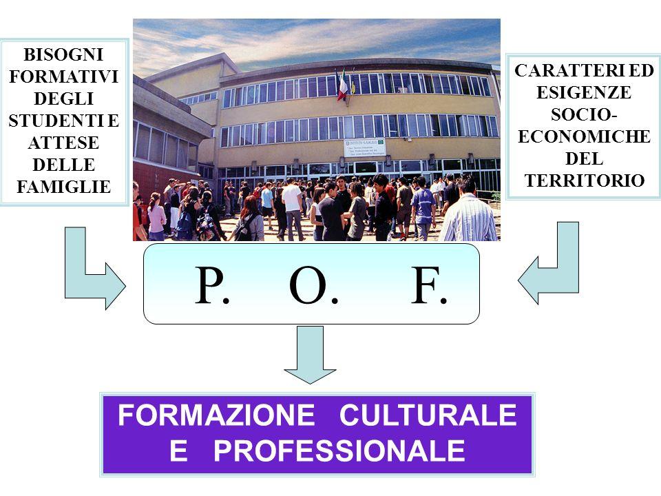 P. O. F. FORMAZIONE CULTURALE E PROFESSIONALE
