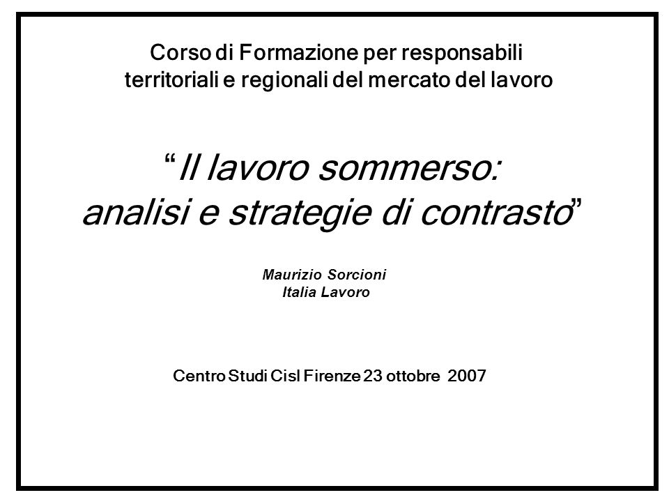 analisi e strategie di contrasto