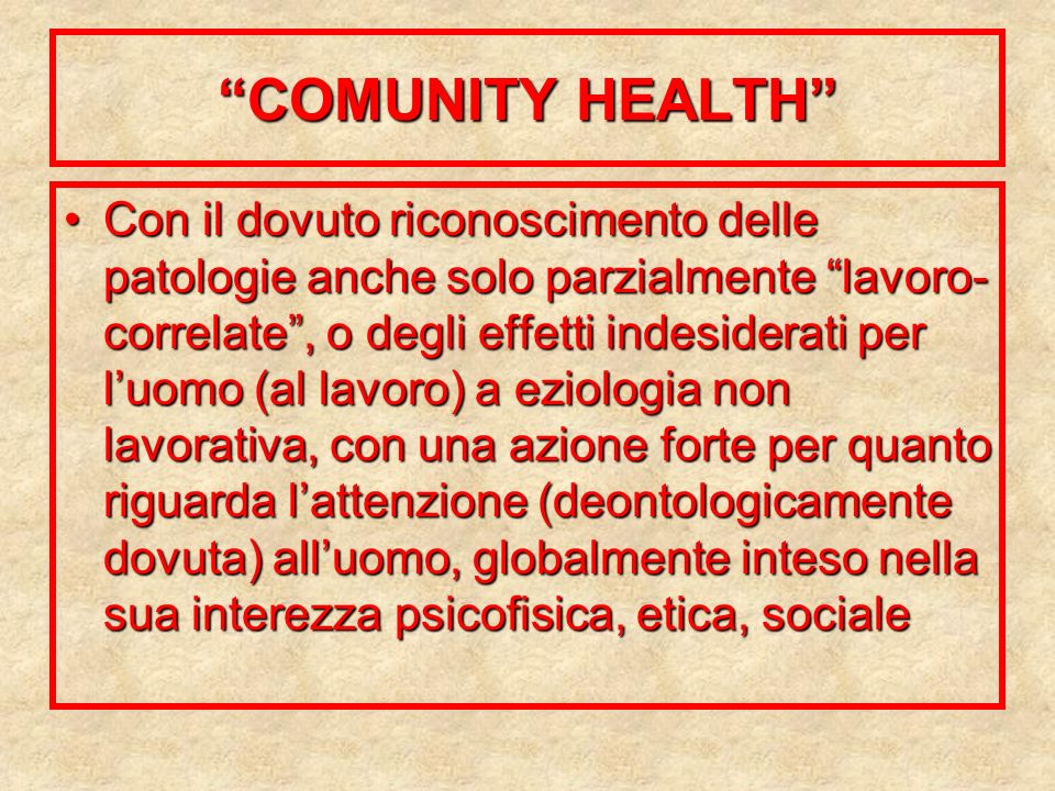 COMUNITY HEALTH