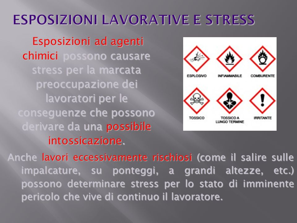 ESPOSIZIONI LAVORATIVE E STRESS