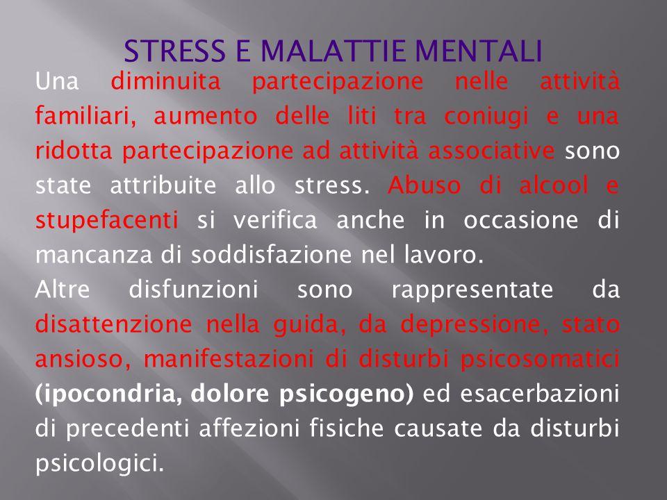 STRESS E MALATTIE MENTALI