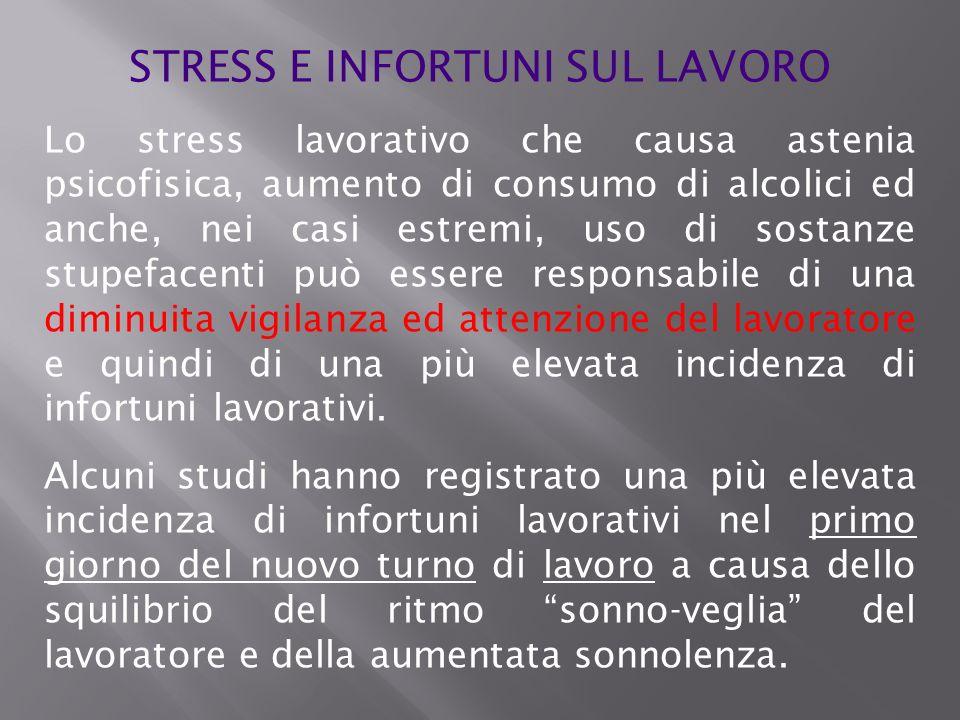 STRESS E INFORTUNI SUL LAVORO