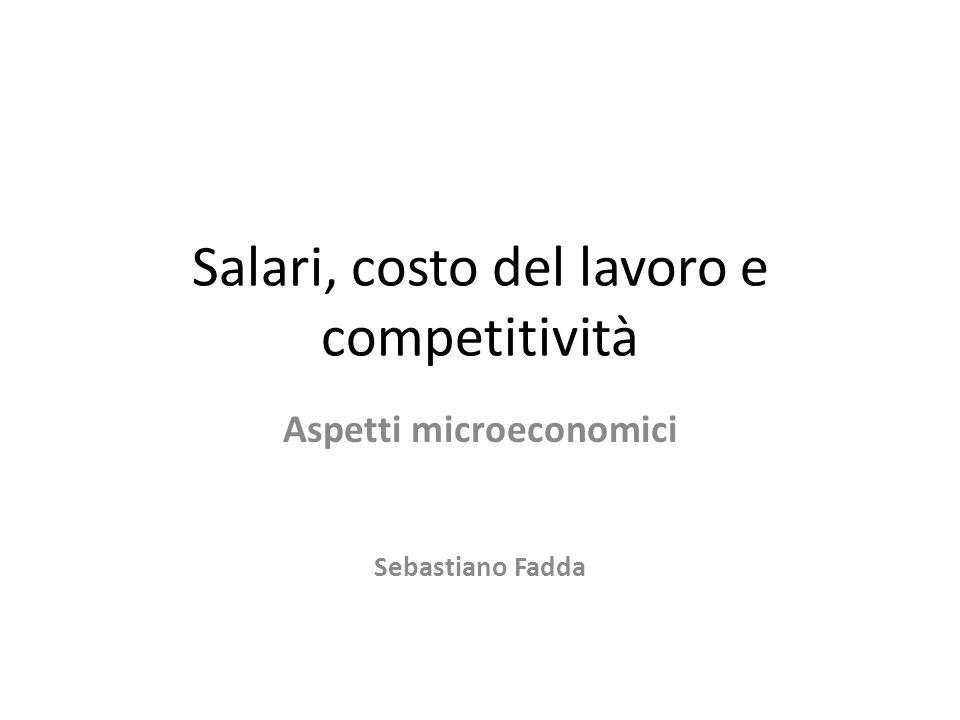Salari, costo del lavoro e competitività