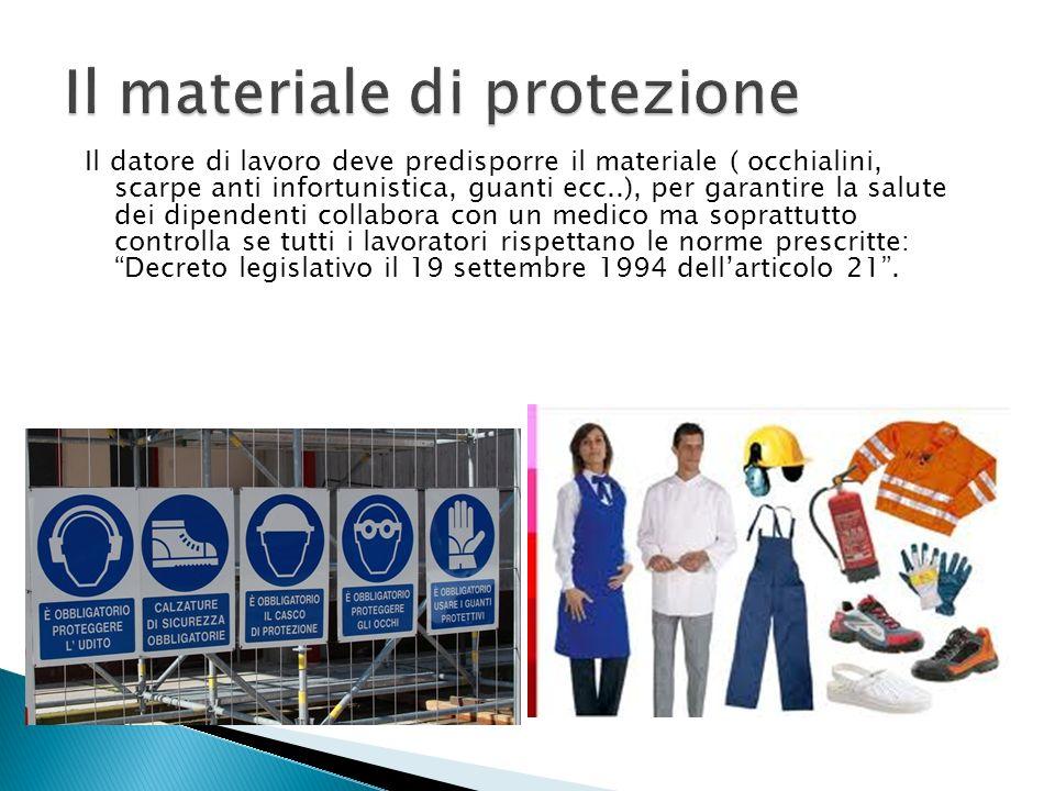 Il materiale di protezione