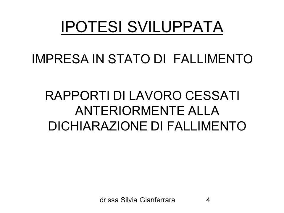 IMPRESA IN STATO DI FALLIMENTO