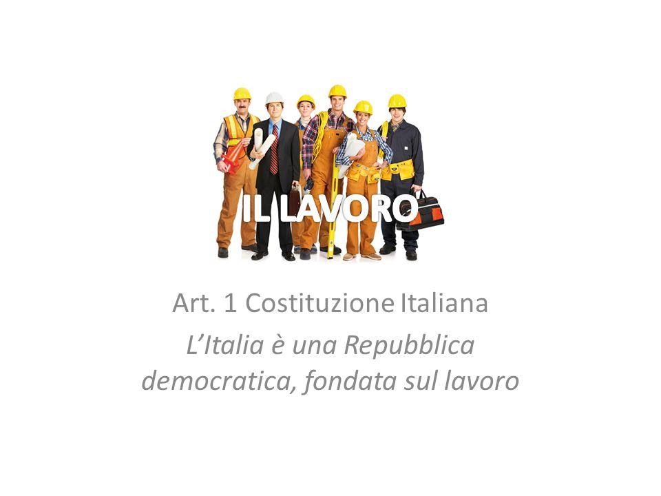 IL LAVORO Art. 1 Costituzione Italiana