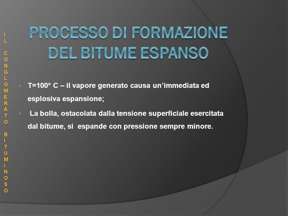 PROCESSO DI FORMAZIONE DEL BITUME ESPANSO