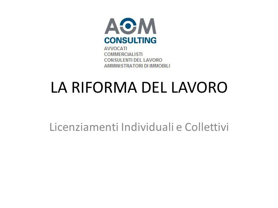 Licenziamenti Individuali e Collettivi