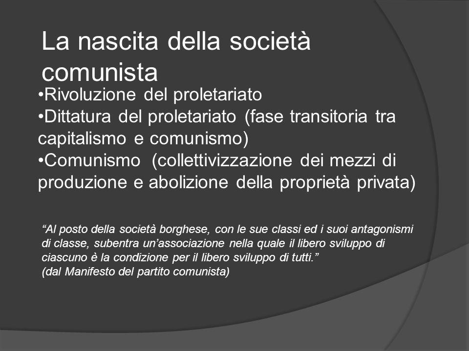 La nascita della società comunista
