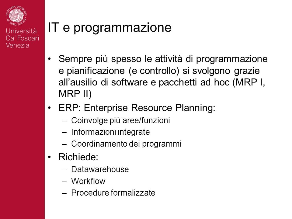 IT e programmazione