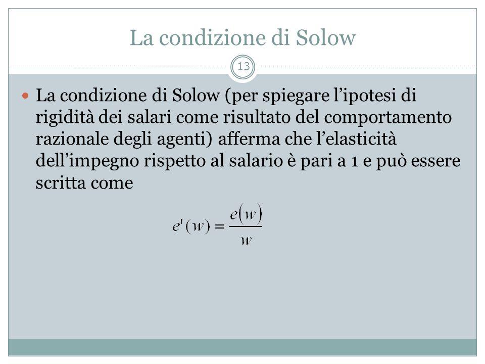 La condizione di Solow