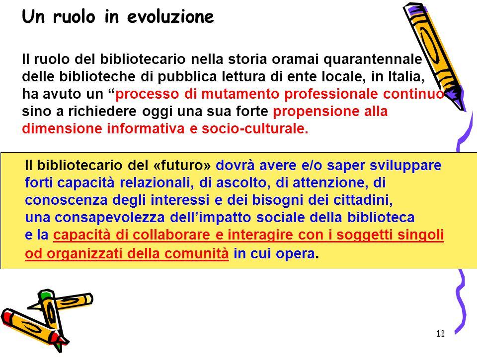 Un ruolo in evoluzione
