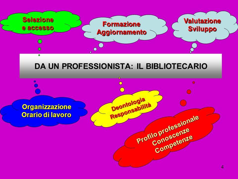 DA UN PROFESSIONISTA: IL BIBLIOTECARIO