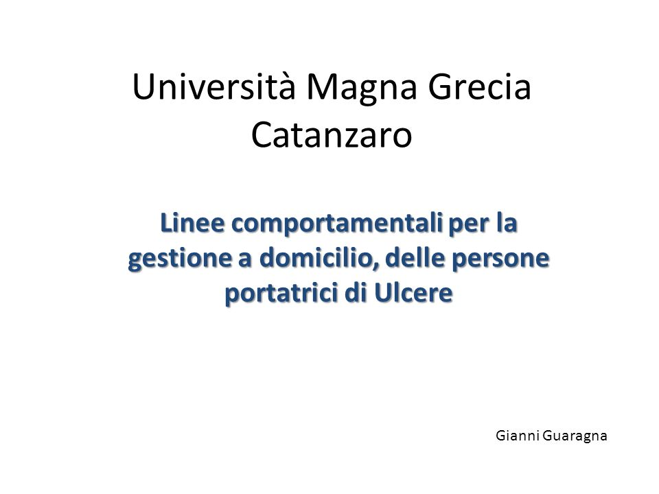 Università Magna Grecia Catanzaro