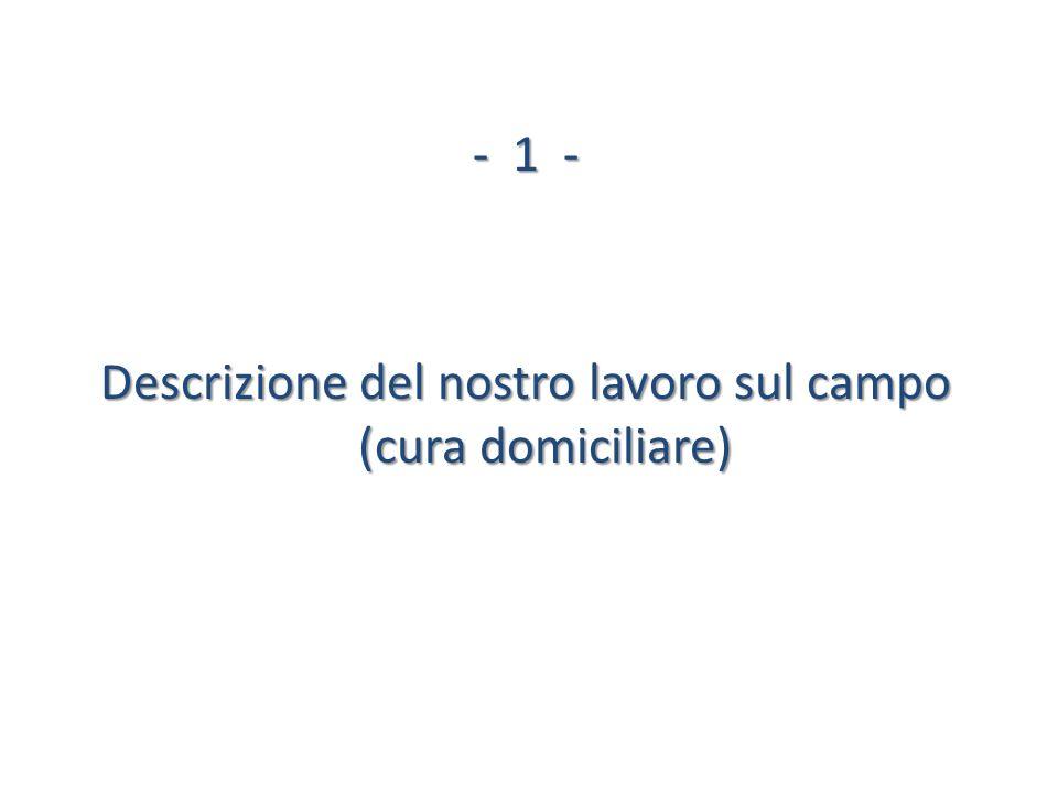 Descrizione del nostro lavoro sul campo (cura domiciliare)