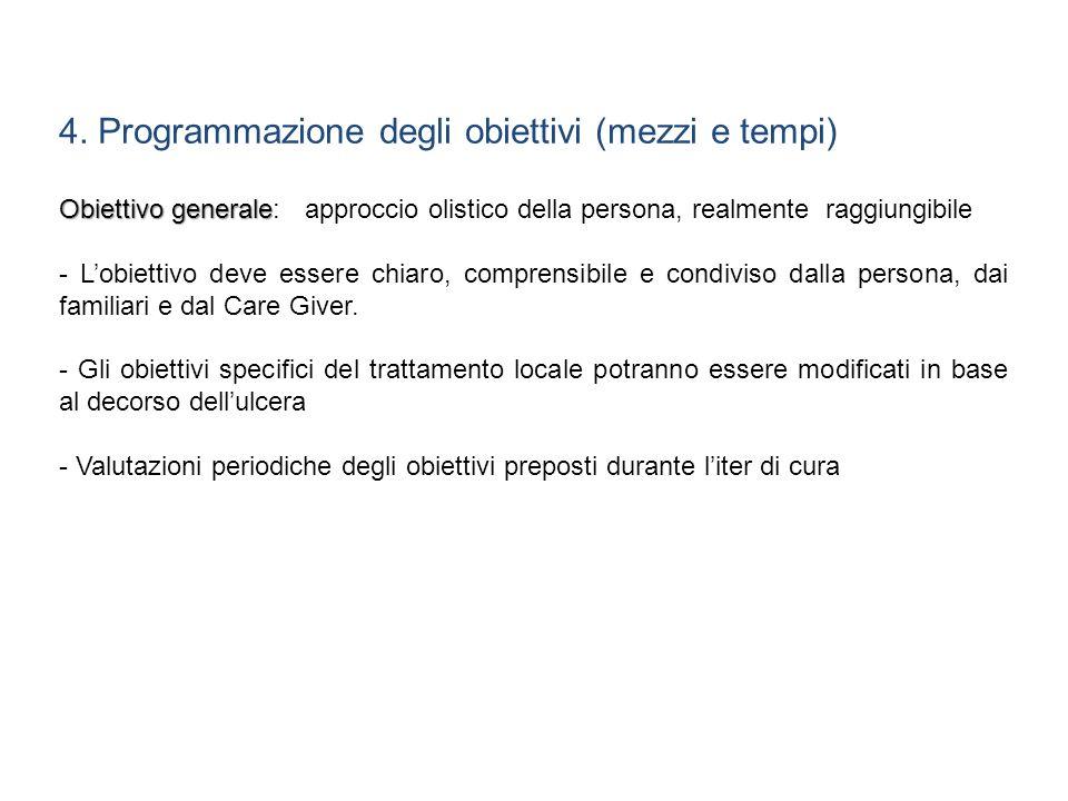 4. Programmazione degli obiettivi (mezzi e tempi)