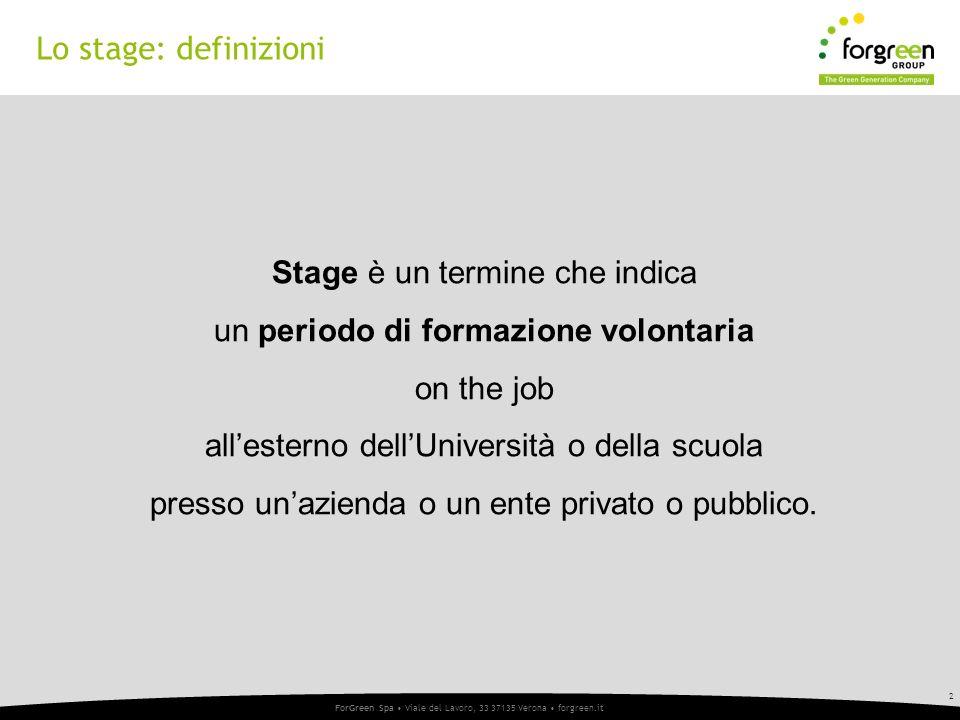 Lo stage: definizioni