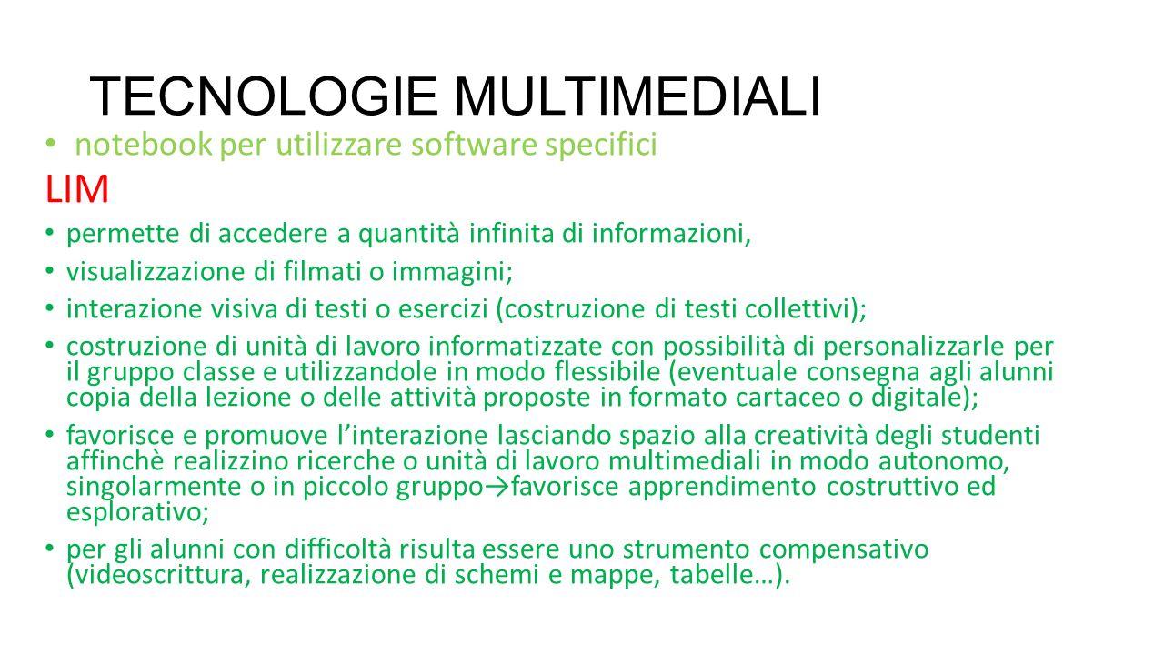 TECNOLOGIE MULTIMEDIALI