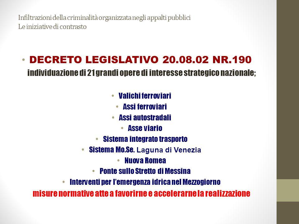 DECRETO LEGISLATIVO 20.08.02 NR.190