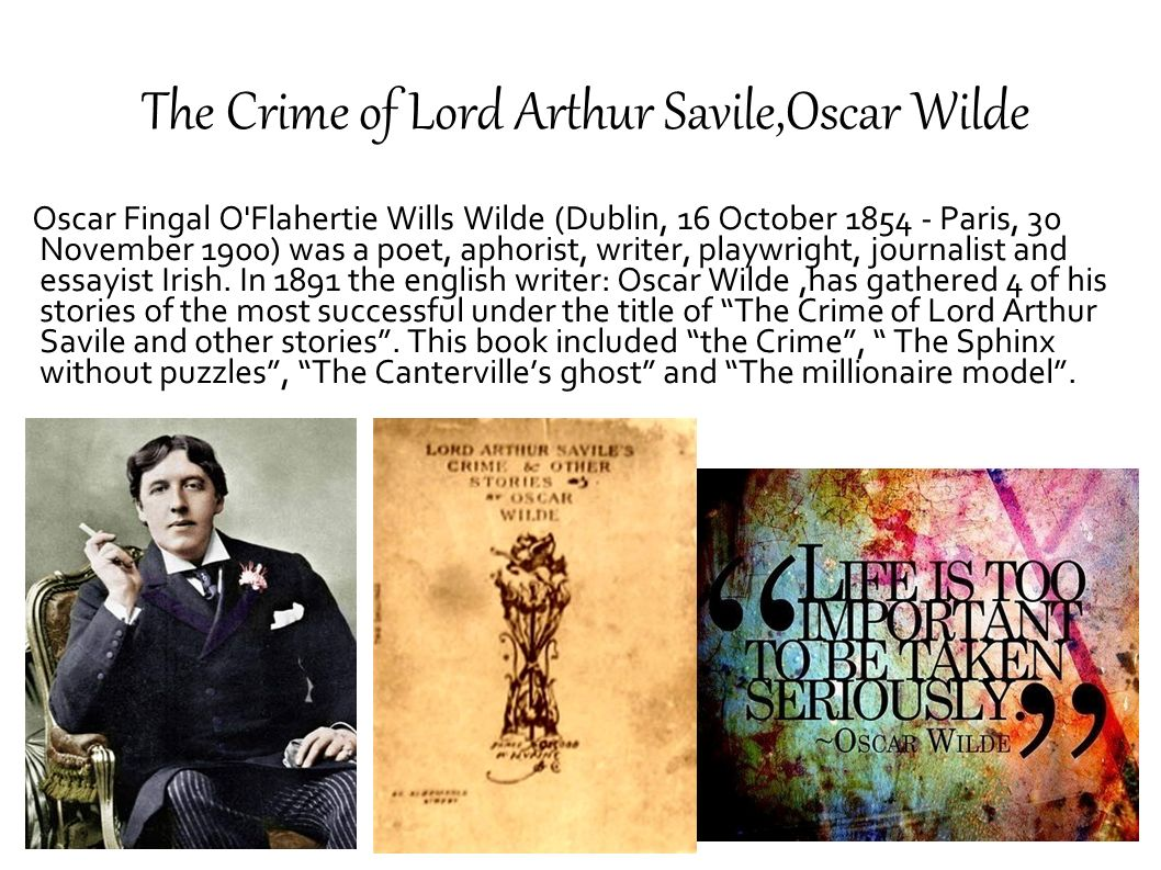 The Crime of Lord Arthur Savile,Oscar Wilde