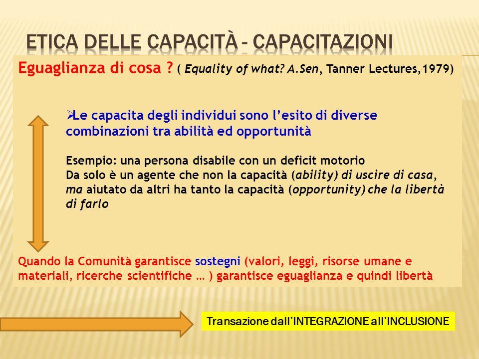 etica delle capacità - capacitazioni