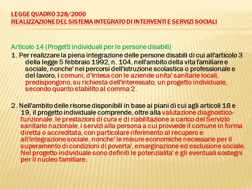 Articolo 14 (Progetti individuali per le persone disabili)