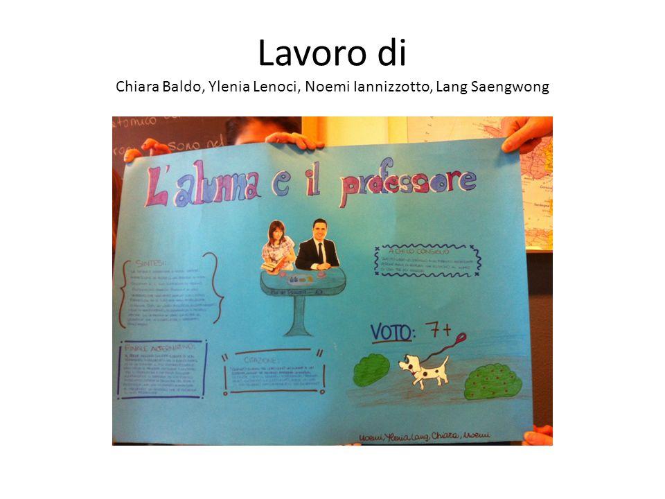 Lavoro di Chiara Baldo, Ylenia Lenoci, Noemi Iannizzotto, Lang Saengwong
